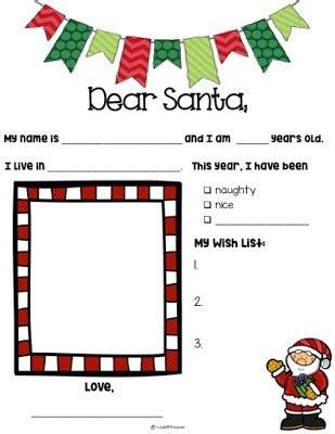 Letter to Santa - Free Printable - AllFreePrintablecom
